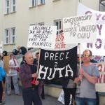 Wojewoda przyjął petycję od protestujących mieszkańców Korsz