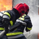Pożar lokalu w Rapie. Mężczyzna z poparzonymi nogami jest w szpitalu
