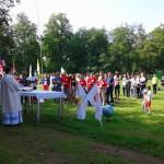 Msza polowa dla pielgrzymów ŚDM goszczących w Elblągu