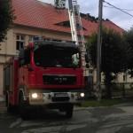 Pożar zakładu tapicerskiego w Barczewie
