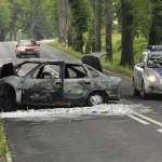 Żołnierz uratował małżeństwo z płonącego samochodu
