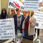 Protestują, bo obawiają się prywatyzacji szpitala