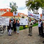 Protest w Ostródzie przeciwko zwolnieniu ordynatora