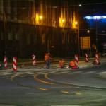 Nocny remont torowiska w centrum Olsztyna