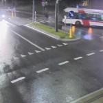 Pieszy potrącony przez autobus w centrum Olsztyna [FILM]