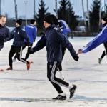 Piłkarze Olimpii Elbląg ciężko trenują przed sezonem