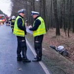 Policja zablokowała DK 16. Służby uspokajają: to nie wypadek, a eksperyment