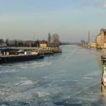 Z powodu lodu wstrzymano ruch w Porcie Morskim w Elblągu