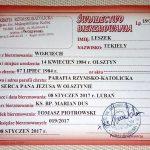 """Prowokacja dziennikarska reporterów Polskiego Radia Olsztyn. """"Kupili"""" w internecie świadectwo bierzmowania"""