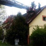 Pożar poddasza na ul. Grajewskiej w Ełku