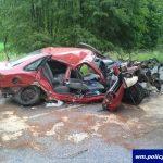Atak padaczki doprowadził do wypadku drogowego w Olecku