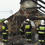 Od uderzenia piorunem w ogniu stanął dom mieszkalny