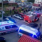 Pożar w budynku na olsztyńskich Jarotach. Z ogniem walczyło 20 strażaków