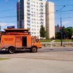 W Elblągu koparka uszkodziła trakcję tramwajową