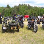 Na lotnisku w olsztyńskich Dajtkach można było podziwiać zabytkowe motocykle