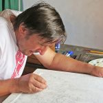Białoruski artysta tworzy specjalną ikonę z wizerunkiem Matki Bożej Gietrzwałdzkiej