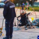 Paralotniarz zahaczył o przewód telewizji kablowej i runął na ziemię