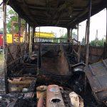 Patrol Straży Granicznej zapobiegł tragedii. W nocy funkcjonariusze zauważyli płonący samochód