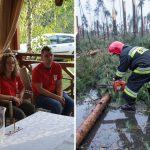 Ochotnicy z Caritas pomagali poszkodowanym przez nawałnicę. Wolontariuszka z Olsztyna pracowała w Brdzie