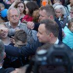 Prezydent Andrzej Duda odwiedził Jeziorany. Zobacz zdjęcia i film