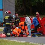 Ciężarówka potrąciła pieszego na rondzie turbinowym w Olsztynie. ZDJĘCIA
