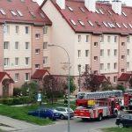 Pożar przy ul. Jarockiej w Olsztynie. Błyskawiczna akcja straży pożarnej