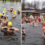 Na Warmii i Mazurach morsy z całej Polski oficjalnie zapoczątkowały sezon zimowych kąpieli