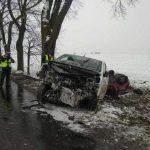 Jedna ofiara śmiertelna, trzy osoby ranne. To wynik tragicznego wypadku w Gwiździnach