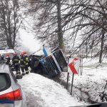 Pogranicznicy pomogli kierowcy uwięzionemu w kabinie ciężarówki