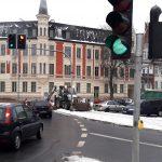 Na rondzie Bema w Olsztynie od 7.30 do 16.30 będzie pulsowało żółte światło