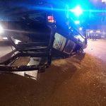 Cztery osoby ranne po dachowaniu samochodu na S7