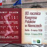 Polacy spod Znaku Rodła. W centrum Olsztyna stanęła tablica upamiętniająca Kongres Polaków w Niemczech