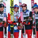 Polscy skoczkowie zaraz za podium w drużynowym konkursie Pucharu Świata