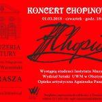 Koncert Chopinowski w Oranżerii Kultury