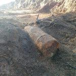 Metrowy niewybuch znaleziono przy krajowej siódemce.  ZDJĘCIA