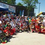 Szczypiorniści, koszykarki i piłkarze biegali w charytatywnej sztafecie