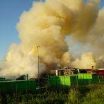 Po 16 godzinach ugaszono pożar składowiska śmieci w olsztyńskim ZGOK-u. ZDJĘCIA