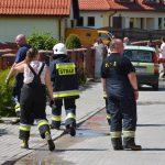 Pożar szeregowca przy ulicy Porcelanowej w Olsztynie. ZDJĘCIA