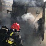 Pożar na polsko-rosyjskim przejściu granicznym w Bezledach. Ogień zniszczył budynek straży granicznej