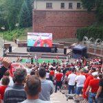 Tysiąc osób obejrzało mecz Polska-Senegal w olsztyńskiej strefie kibica