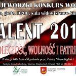 Wojewódzki Konkurs Wokalny Talent 2018