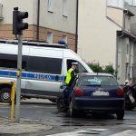 Wypadek na skrzyżowaniu Wojska Polskiego i Małeckiego w Olsztynie