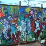 Obraz namalowany przez naszych słuchaczy podczas akcji #BądźJakMatejko można oglądać w Muzeum Bitwy pod Grunwaldem