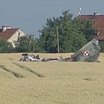 Katastrofa myśliwca MiG-29 pod Pasłękem. Pilot nie przeżył. Do tragedii doszło w trakcie wykonywania nocnych lotów