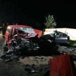 Dwie osoby zginęły po zderzeniu dwóch aut osobowych koło Bartoszyc