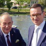 """Mateusz Morawiecki z wizytą w Elblągu. """"Pieniądze na przekop Mierzei Wiślanej są już zabezpieczone"""""""