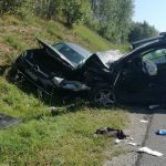 Wypadek na krajowej 16. Cztery osoby ciężko ranne