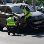 Wypadek na alei Wojska Polskiego w Olsztynie. Samochód osobowy potrącił pieszą