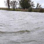 Rośnie stan wód na Żuławach Elbląskich. Silny wiatr wpycha wodę w głąb lądu