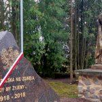 W Wilkowie koło Kętrzyna odsłonięto obelisk poświęcony 100-leciu odzyskania niepodległości